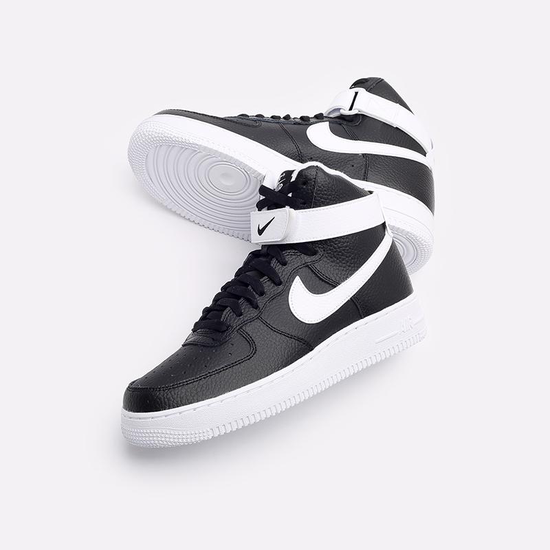 мужские чёрные  кроссовки nike air force 1 high '07 CT2303-002 - цена, описание, фото 6