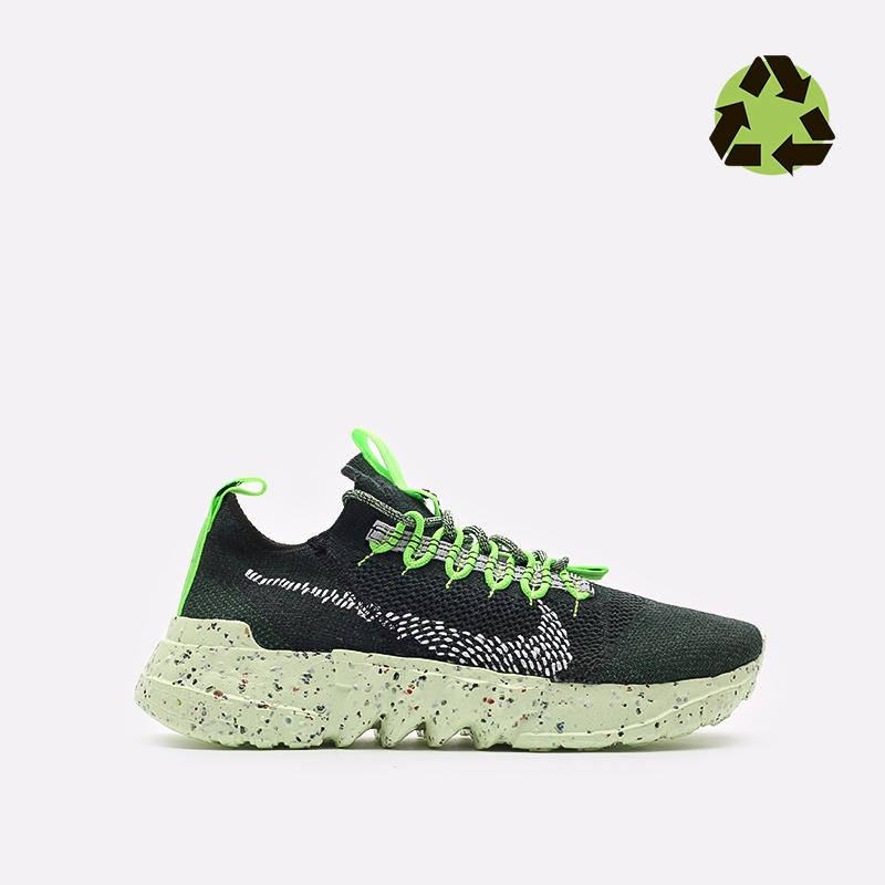 мужские зелёные  кроссовки nike space hippie 01 DJ3056-300 - цена, описание, фото 1