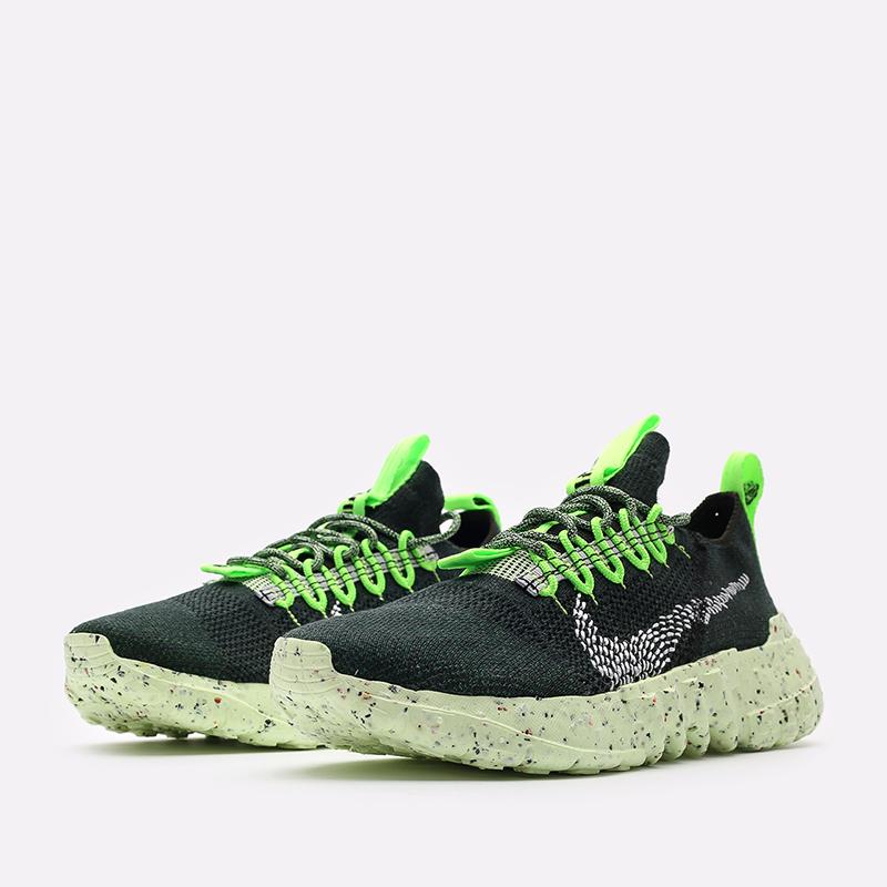 мужские зелёные  кроссовки nike space hippie 01 DJ3056-300 - цена, описание, фото 4