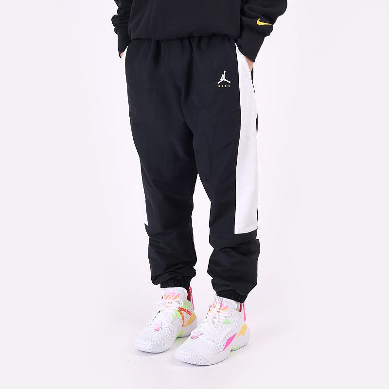 мужские черные  брюки jordan jumpman woven trousers DA7237-010 - цена, описание, фото 1