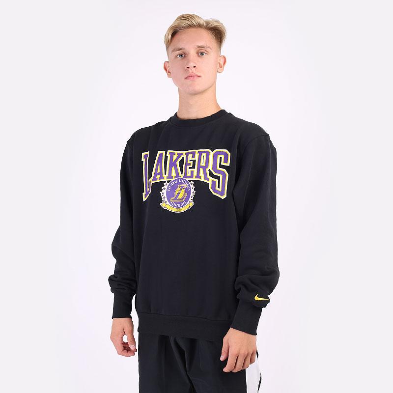 мужская черная толстовка Nike Lakers Crew DJ2801-010 - цена, описание, фото 1