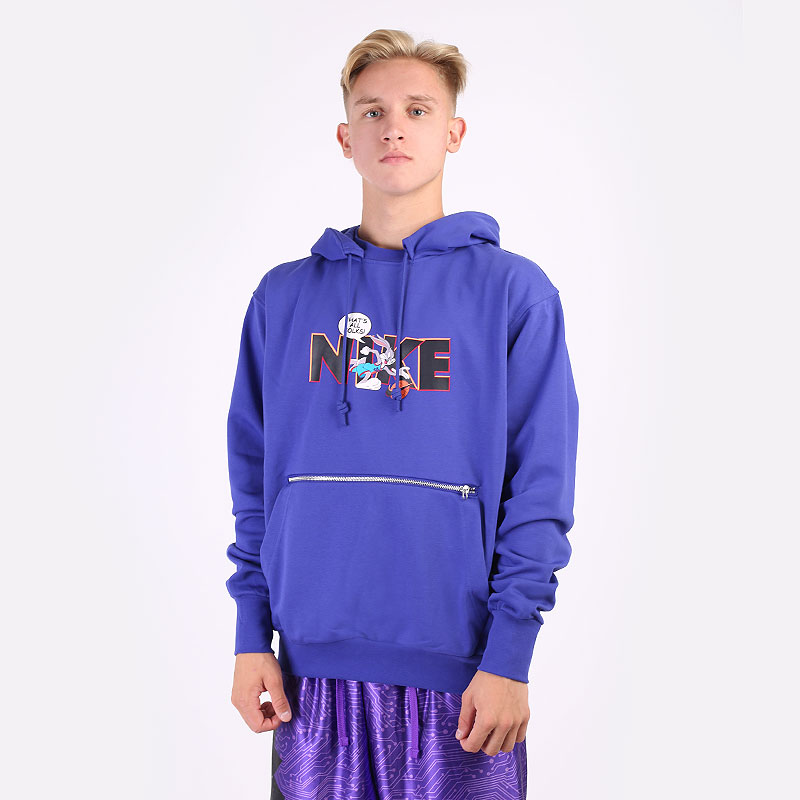 мужская синяя толстовка Nike Dri-FIT Standard Issue x Space Jam: A New Legacy Hoodie DJ3889-471 - цена, описание, фото 1