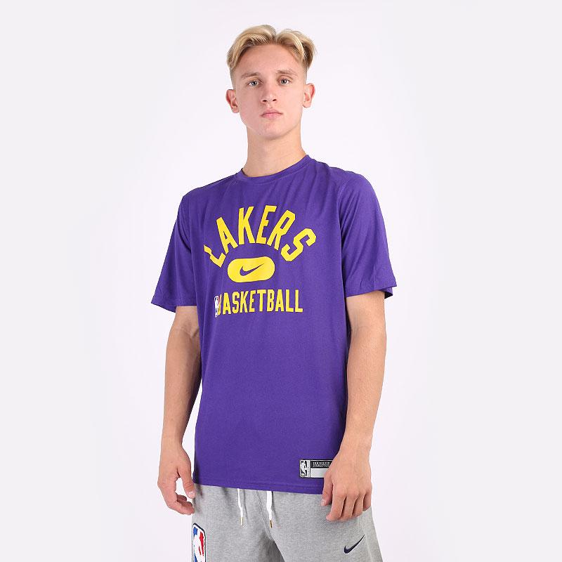 мужскую фиолетовую  футболка nike los angeles lakers dri-fit nba t-shirt DA5925-547 - цена, описание, фото 1