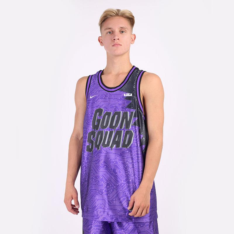 мужская фиолетовая майка Nike LeBron x Space Jam: A New Legacy `Goon Squad` Jersey DJ3872-560 - цена, описание, фото 1