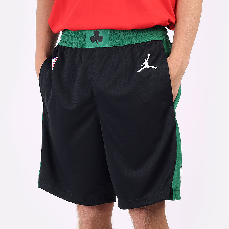 мужские черные шорты  Jordan Celtics Statement Edition 2020 NBA Swingman Short CV9553-010 - цена, описание, фото 1