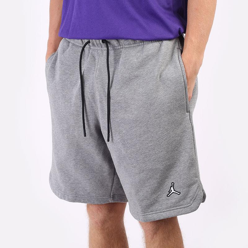 мужские серые  шорты  jordan essentials fleece shorts DA9826-091 - цена, описание, фото 1