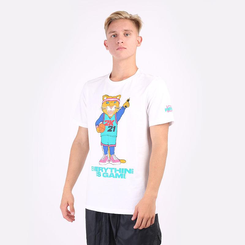 мужскую белую  футболка puma 2k dylan tee 53292001 - цена, описание, фото 1