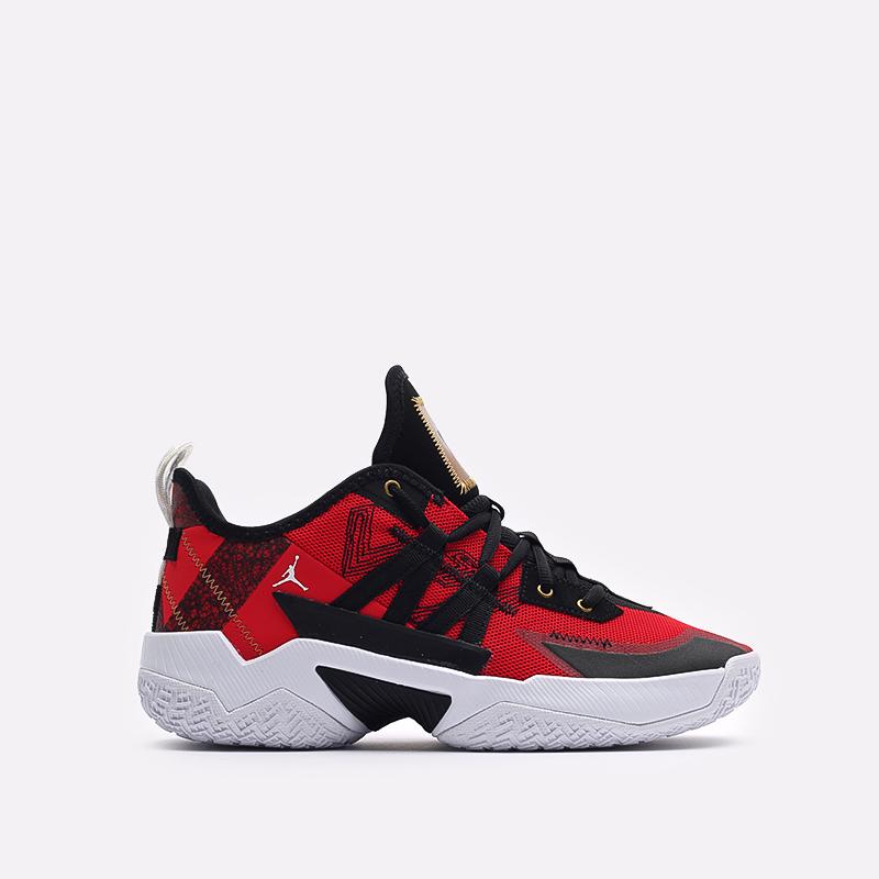 мужские красные  кроссовки jordan one take ii CW2457-607 - цена, описание, фото 1