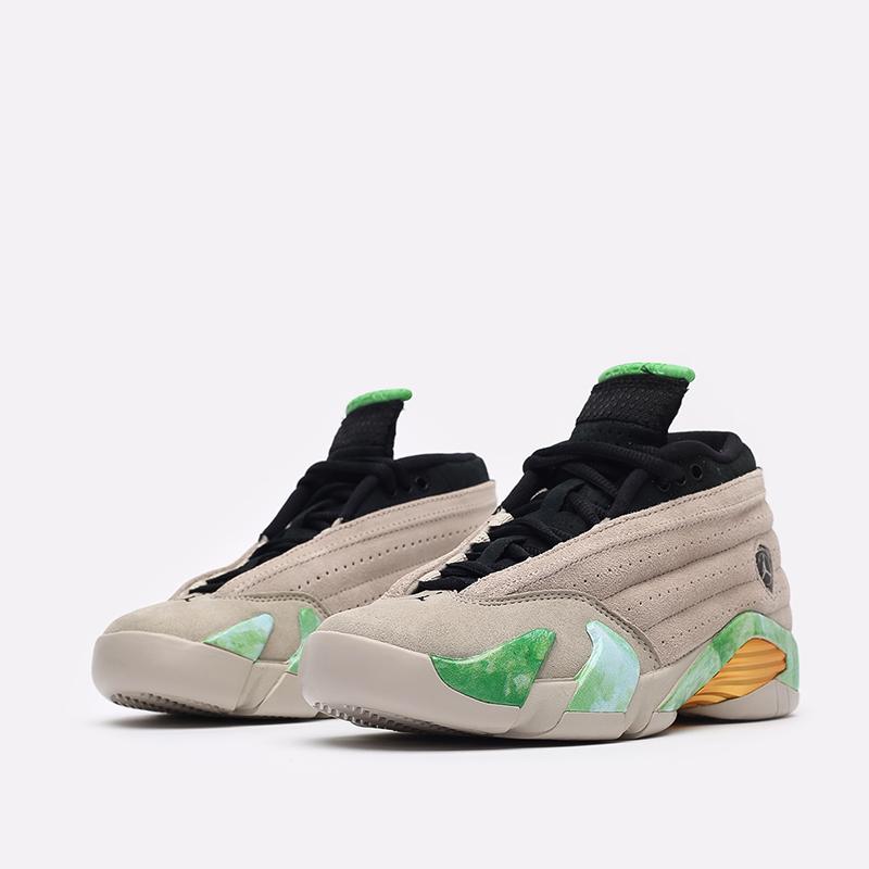 женские бежевые кроссовки Jordan WMNS 14 Retro Low SP DJ1034-200 - цена, описание, фото 4