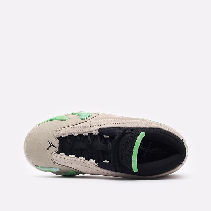 женские бежевые кроссовки Jordan WMNS 14 Retro Low SP DJ1034-200 - цена, описание, фото 6