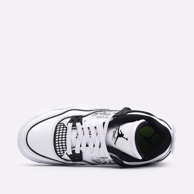 женские белые  кроссовки jordan 4 retro se (gs) DC4101-100 - цена, описание, фото 6