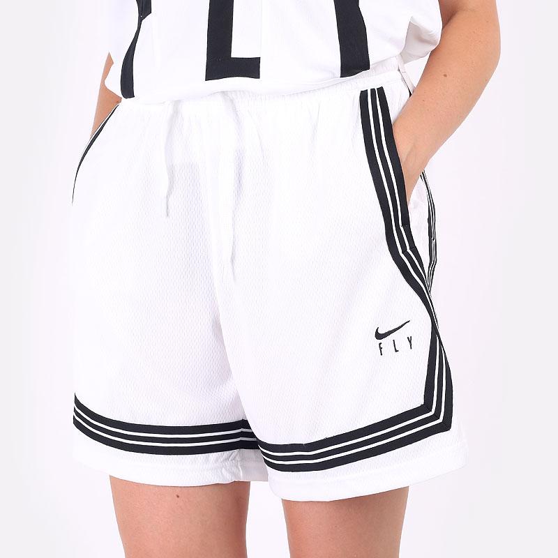 женские белые  шорты  nike  dri-fit swoosh fly women's basketball shorts CK6599-100 - цена, описание, фото 1