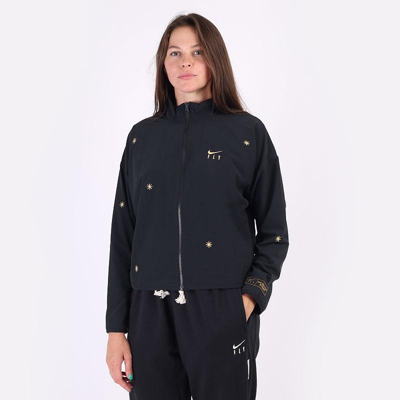 женская черная толстовка Nike Dri-FIT Swoosh Fly Basketball Jacket DA6488-010 - цена, описание, фото 1