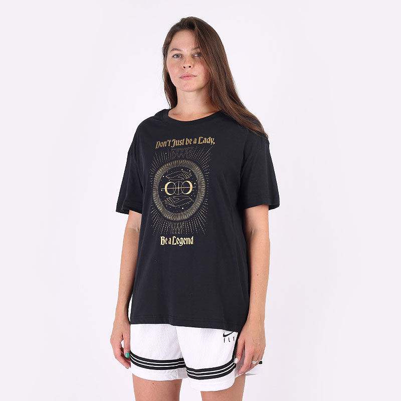 женская черная футболка Nike `Legend` Women's Basketball Boyfriend T-Shirt DJ6388-011 - цена, описание, фото 1