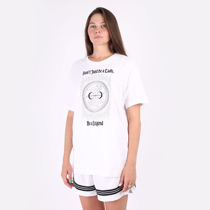 женская белая футболка Jordan `Legend` Women's Basketball Boyfriend T-Shirt DJ6388-100 - цена, описание, фото 1