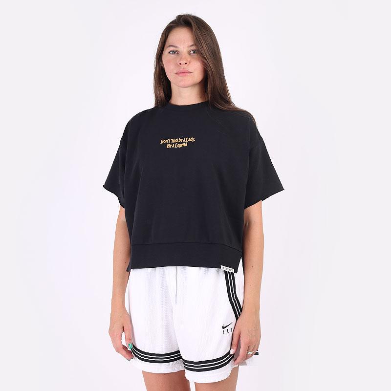 женская черная футболка Nike Dri-FIT Standard Issue Women's Basketball Top DC5309-010 - цена, описание, фото 1