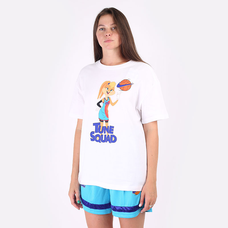 женскую белую  футболка nike x space jam: a new legacy women's basketball t-shirt DH3837-100 - цена, описание, фото 1