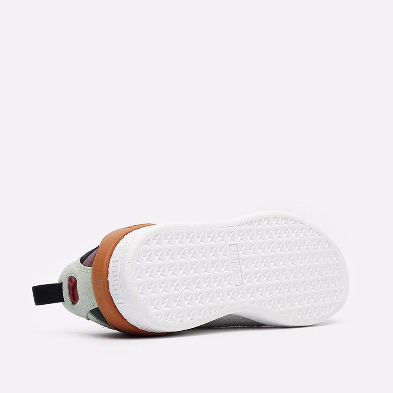 мужские разноцветные  кроссовки puma suede bloc wtformstripe 38118402 - цена, описание, фото 7