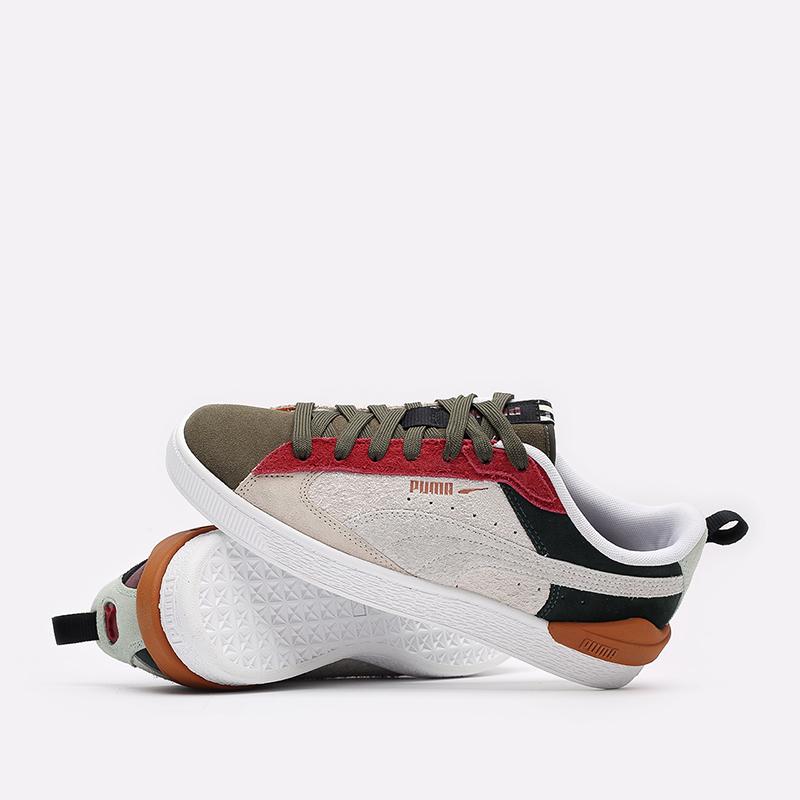 мужские разноцветные  кроссовки puma suede bloc wtformstripe 38118402 - цена, описание, фото 5