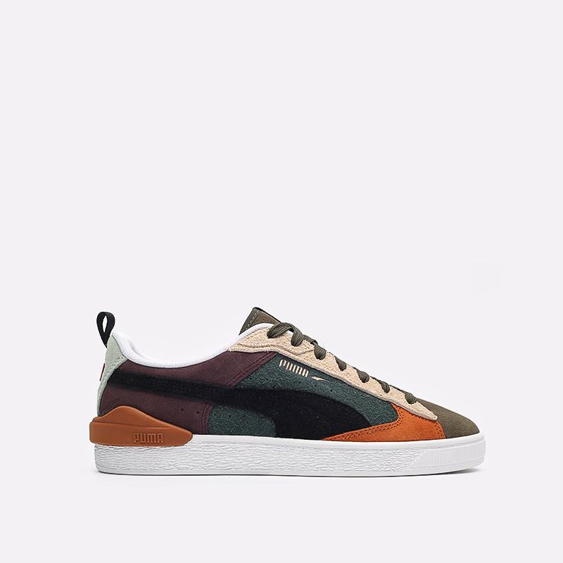 мужские разноцветные  кроссовки puma suede bloc wtformstripe 38118402 - цена, описание, фото 1