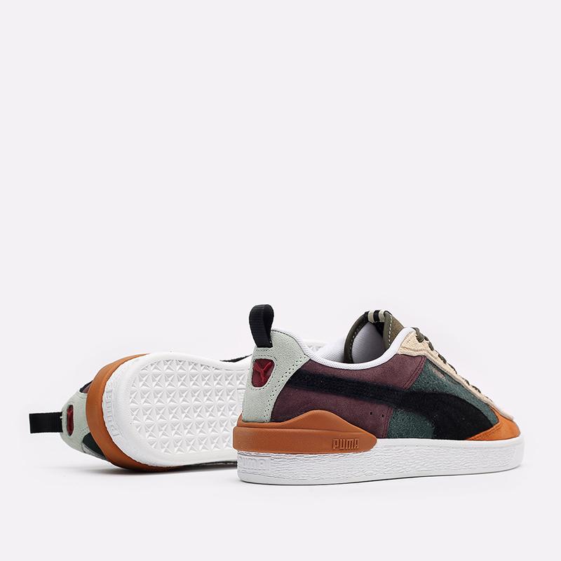 мужские разноцветные  кроссовки puma suede bloc wtformstripe 38118402 - цена, описание, фото 6