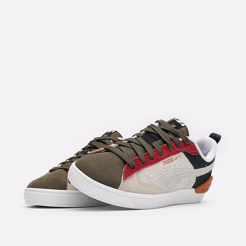 мужские разноцветные  кроссовки puma suede bloc wtformstripe 38118402 - цена, описание, фото 4