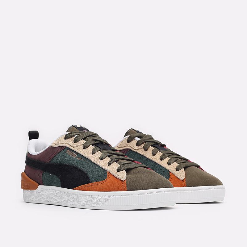 мужские разноцветные  кроссовки puma suede bloc wtformstripe 38118402 - цена, описание, фото 3