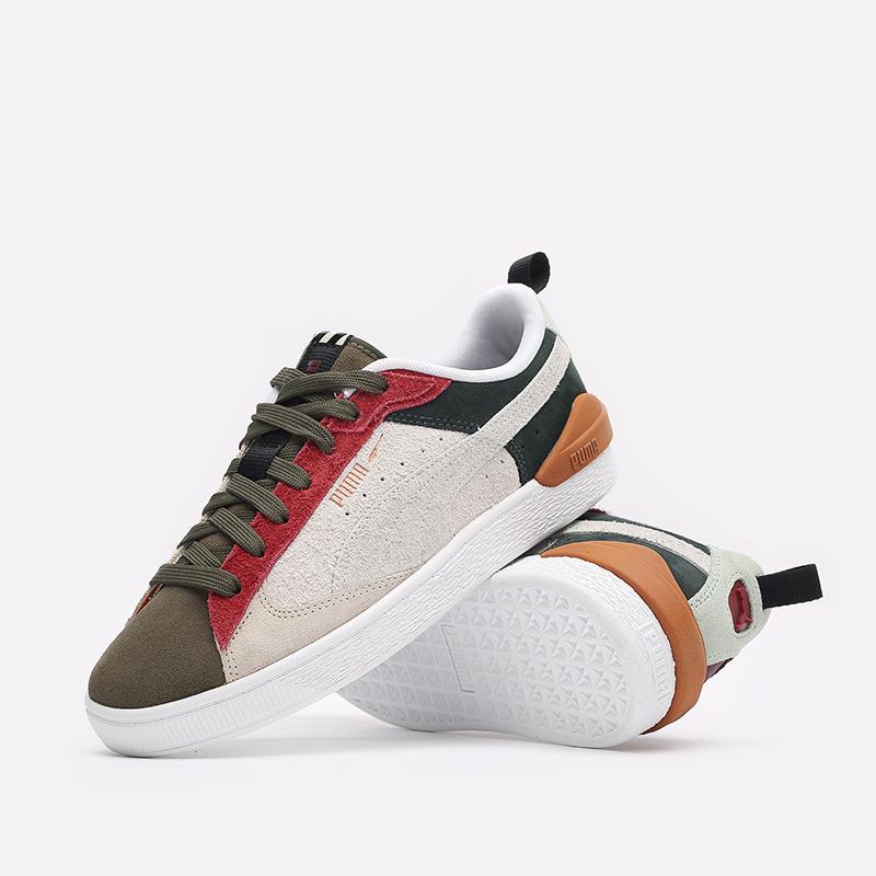 мужские разноцветные  кроссовки puma suede bloc wtformstripe 38118402 - цена, описание, фото 2