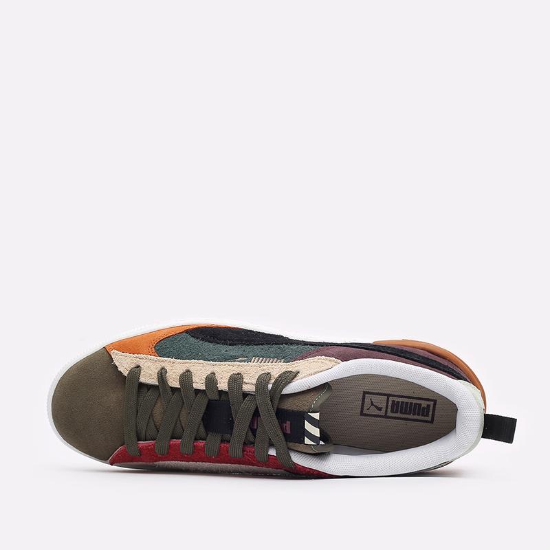 мужские разноцветные  кроссовки puma suede bloc wtformstripe 38118402 - цена, описание, фото 8