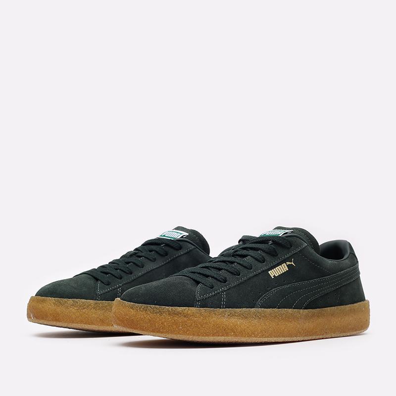 мужские зелёные  кроссовки puma suede crepe 38070704 - цена, описание, фото 2