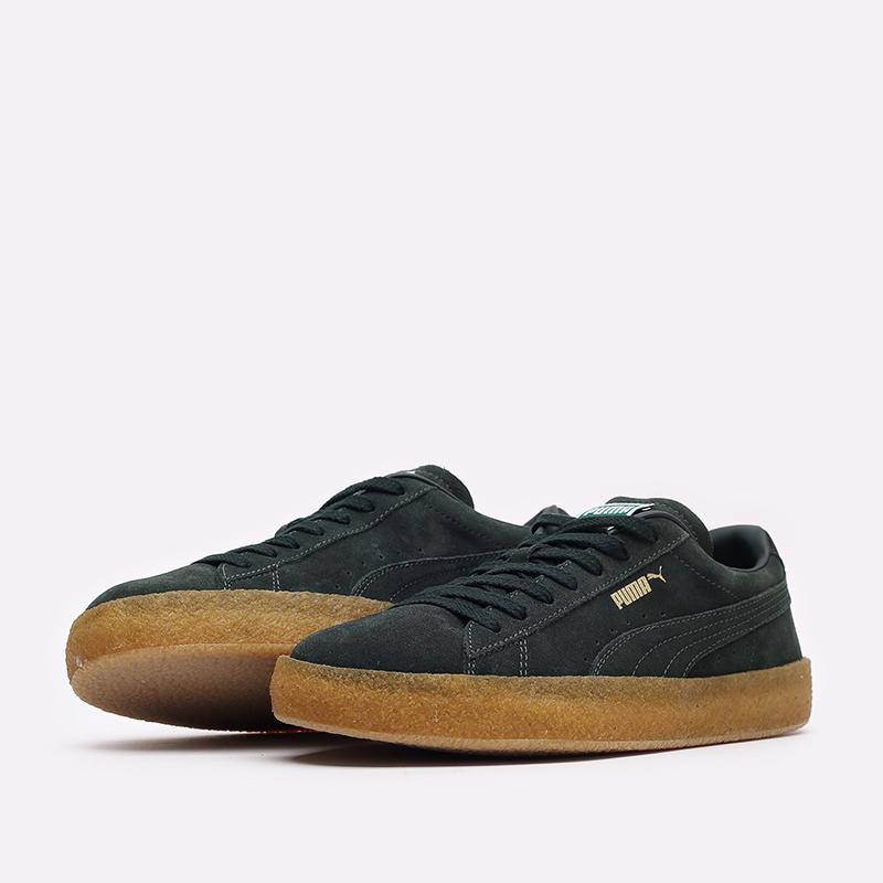 мужские зелёные  кроссовки puma suede crepe 38070704 - цена, описание, фото 4