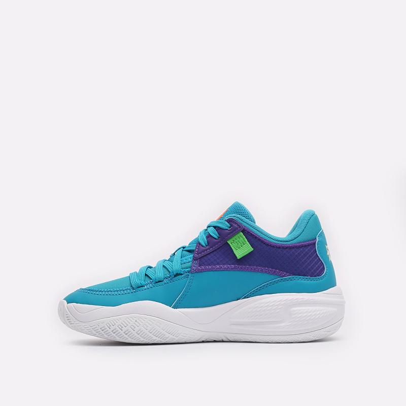 голубые баскетбольные кроссовки PUMA Court Rider x Rugrats 19569801 - цена, описание, фото 2