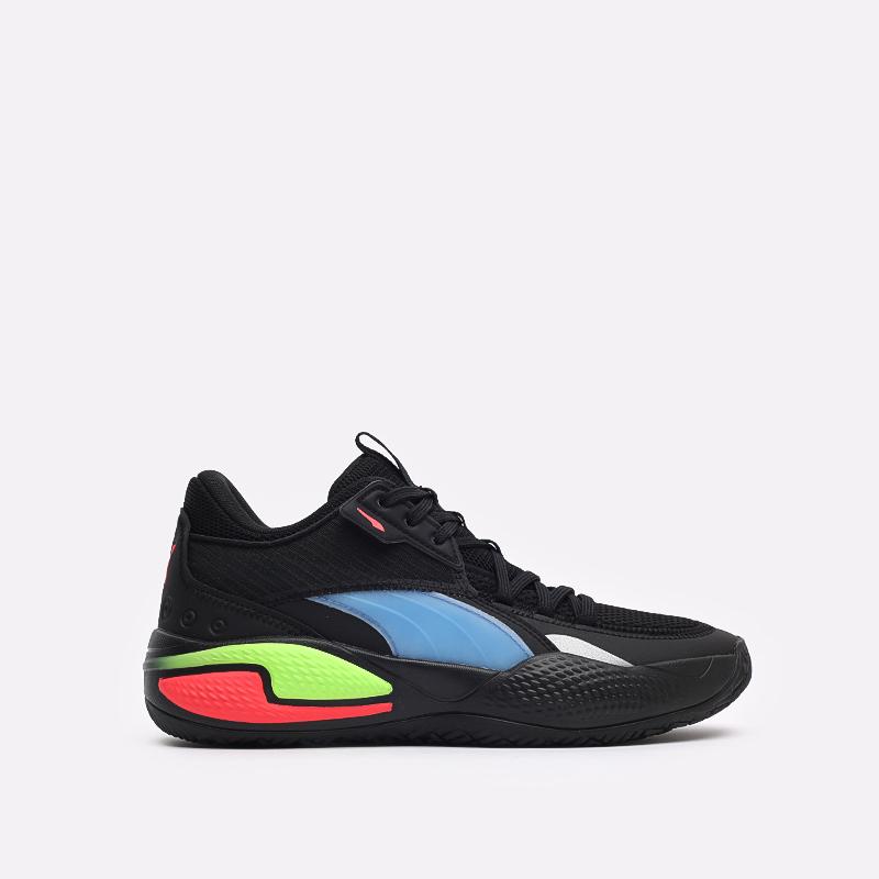 мужские чёрные  кроссовки puma court rider pop 37610701 - цена, описание, фото 1