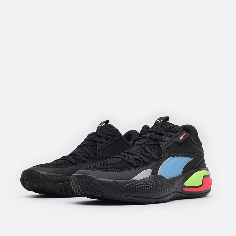 мужские чёрные  кроссовки puma court rider pop 37610701 - цена, описание, фото 4