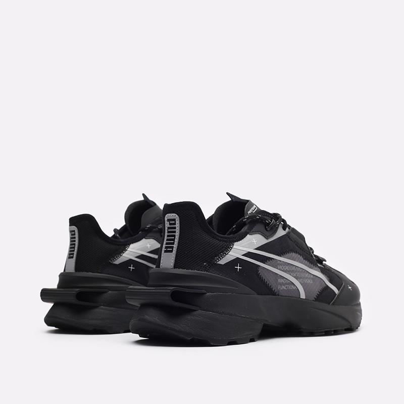 мужские чёрные  кроссовки puma pwrframe op-1 tech 38342301 - цена, описание, фото 3