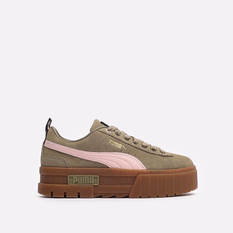 женские бежевые  кроссовки puma mayze gum wn's 38188701 - цена, описание, фото 1