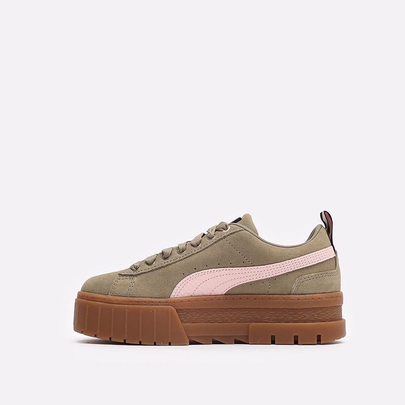 женские бежевые  кроссовки puma mayze gum wn's 38188701 - цена, описание, фото 2