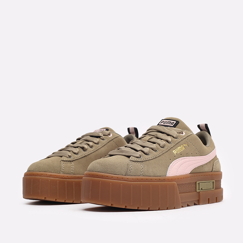 женские бежевые  кроссовки puma mayze gum wn's 38188701 - цена, описание, фото 4