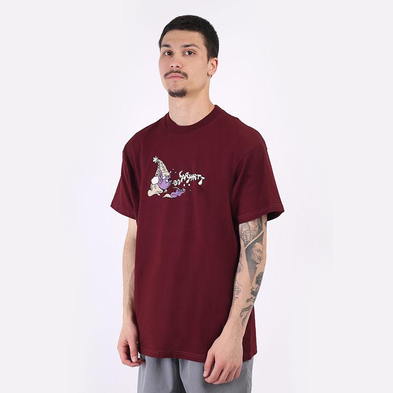 мужская бордовая футболка Carhartt WIP S/S Kogancult Wizard T-Shirt I029632-jam - цена, описание, фото 1