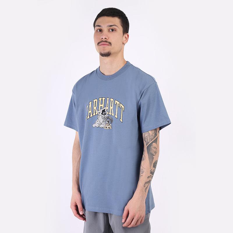 мужская синяя футболка Carhartt WIP S/S Kogancult Crystal T-Shirt I029633-icesheet - цена, описание, фото 1