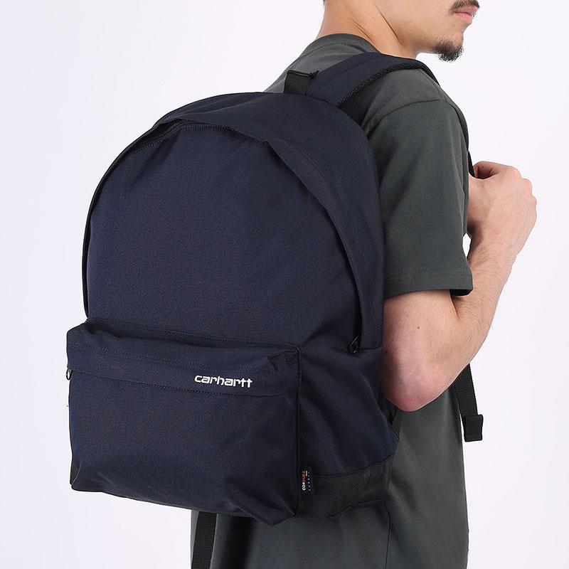 синий рюкзак Carhartt WIP Payton Backpack I026877-astro/white - цена, описание, фото 1