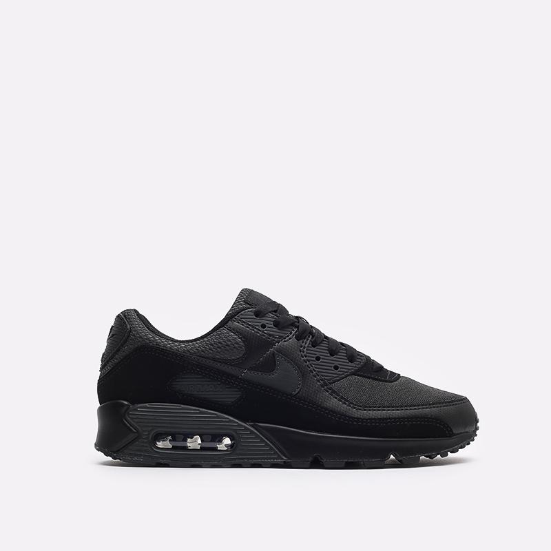 мужские чёрные  кроссовки nike air max 90 DH9767-001 - цена, описание, фото 1