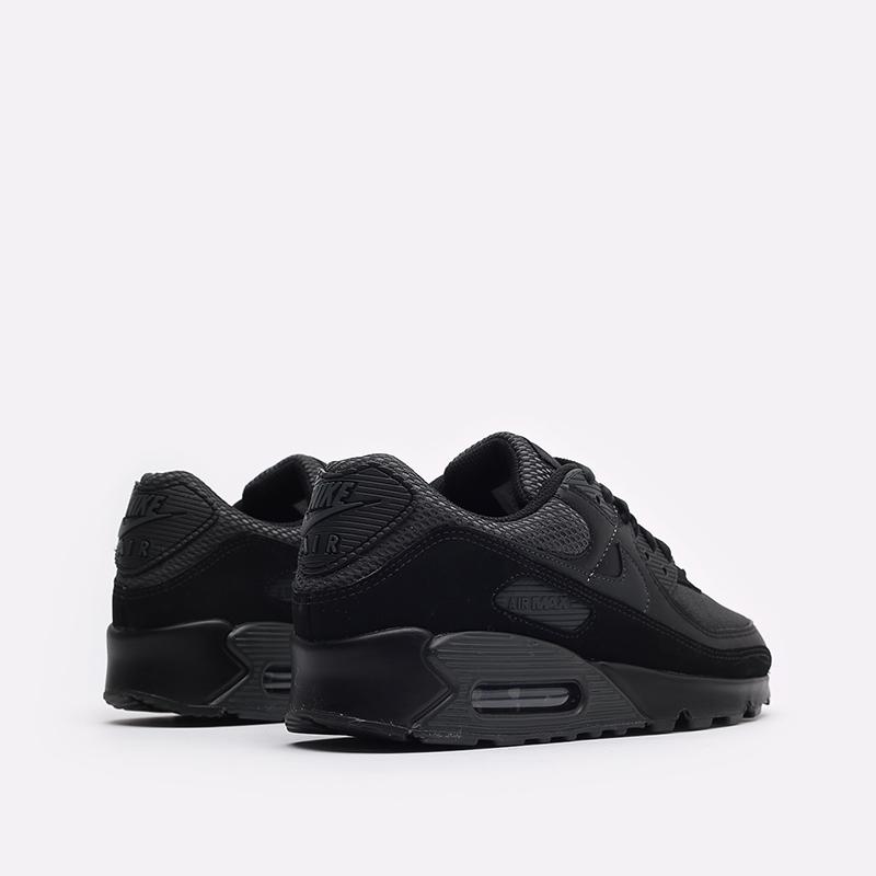 мужские чёрные  кроссовки nike air max 90 DH9767-001 - цена, описание, фото 3