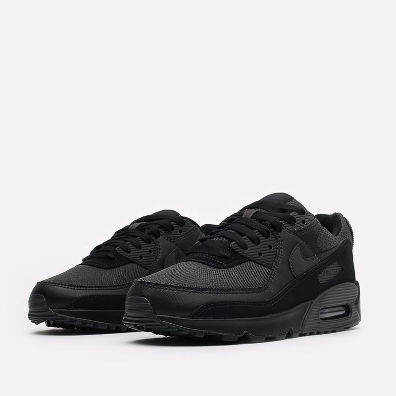 мужские чёрные  кроссовки nike air max 90 DH9767-001 - цена, описание, фото 4