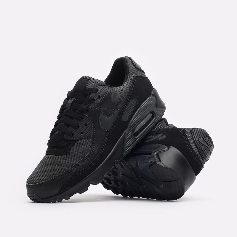 мужские чёрные  кроссовки nike air max 90 DH9767-001 - цена, описание, фото 2