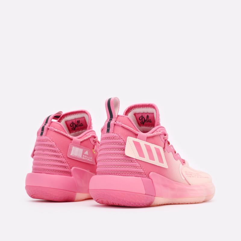 розовые  кроссовки adidas dame 7 extply H68605 - цена, описание, фото 3