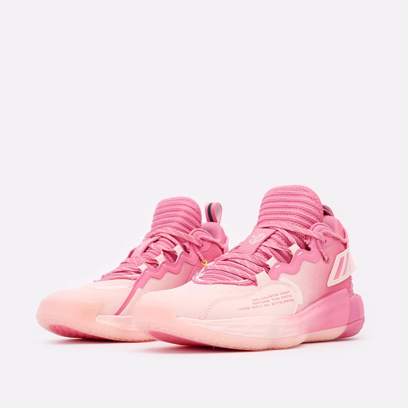 розовые  кроссовки adidas dame 7 extply H68605 - цена, описание, фото 4