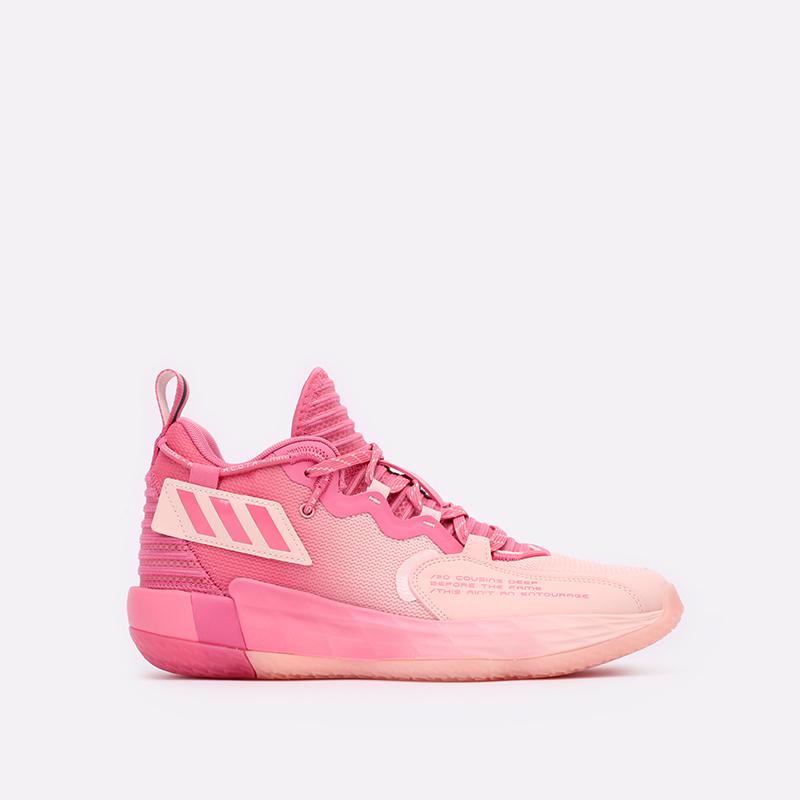 розовые  кроссовки adidas dame 7 extply H68605 - цена, описание, фото 1