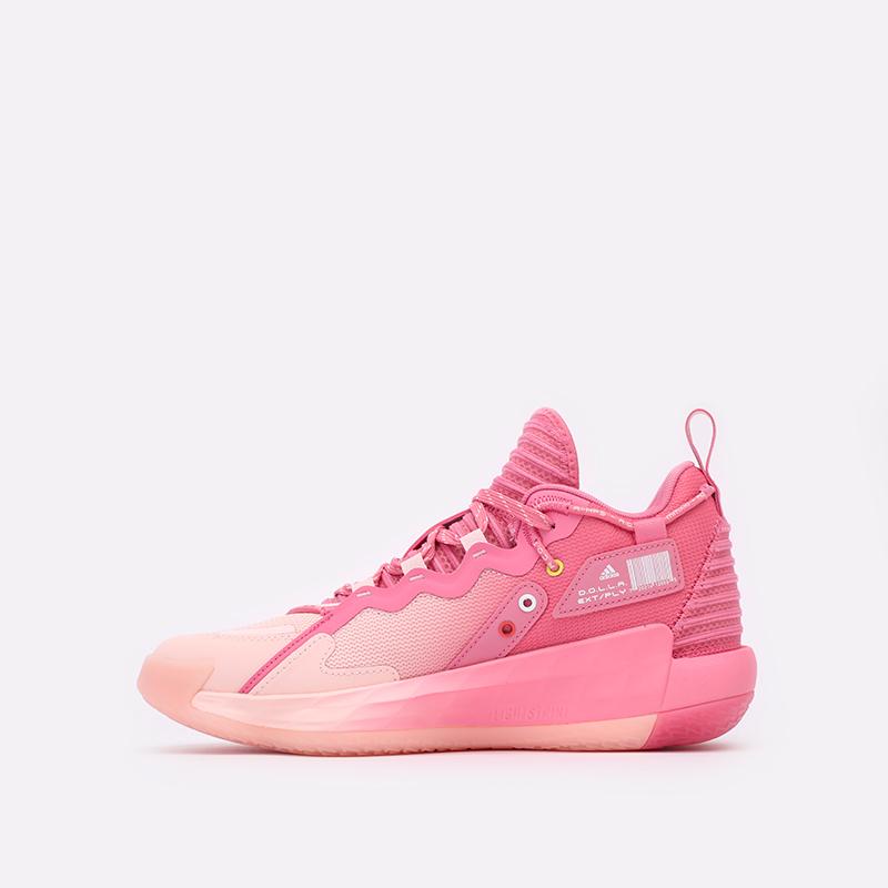розовые  кроссовки adidas dame 7 extply H68605 - цена, описание, фото 2