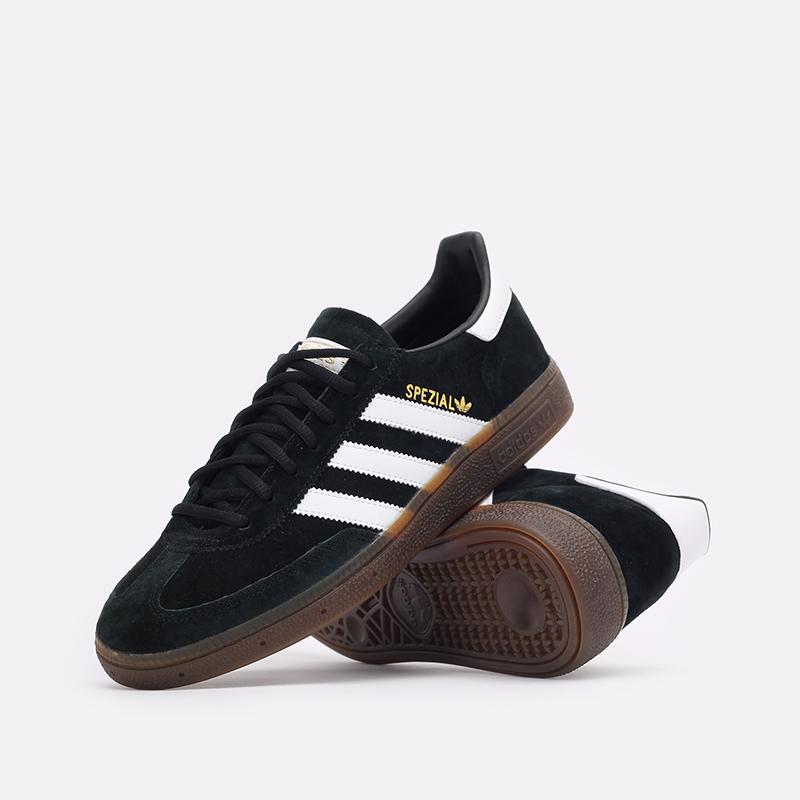 мужские чёрные  кроссовки adidas handball spezial DB3021 - цена, описание, фото 2